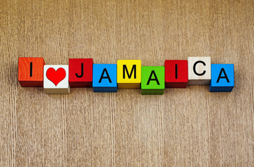 Jamaica; Bahamas - sign series for Caribbean islands