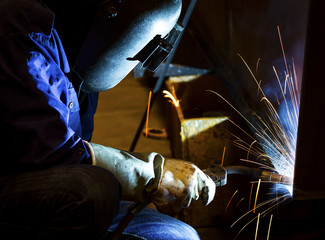 Welder working