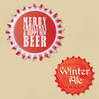 Retro Vintage bottle caps design - Christmas and winter edition