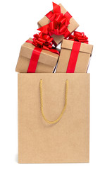 gifts in a shopping bag