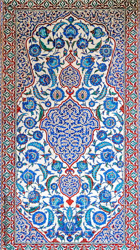 Colorful tile decoration