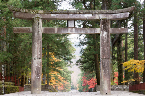 "Torii at Toshogu Shrine,Nikko,Japan.""Shrines and Temples of Nikk"