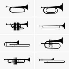 Set of trumpets