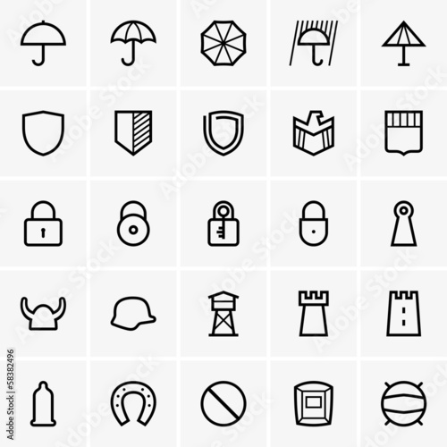 Set of Protection icons