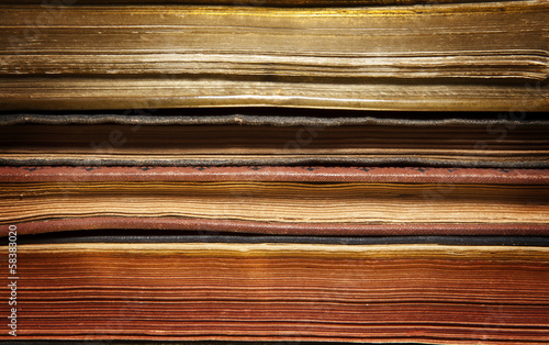 Aged books background