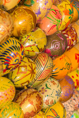 Ukrainian easter eggs in different designs