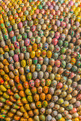 Ukrainian easter eggs in many different colors