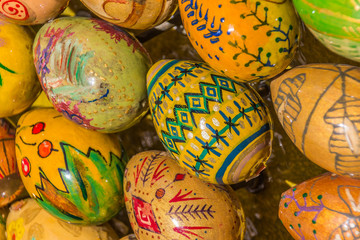 Hand made Russian easter eggs in differet designs