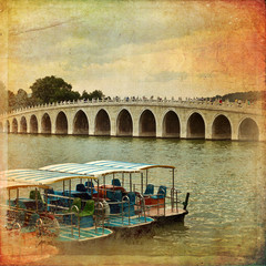 The Bridge of 17 arches in Beijing - Summer Palace