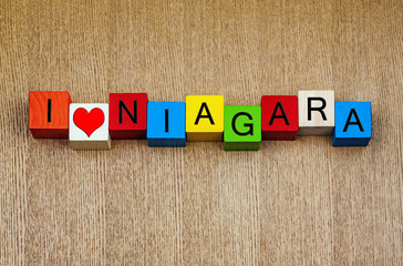 I Love Niagara - vacation destination Niagara Falls, America