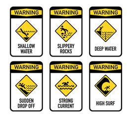Open water warnings, set I