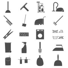 Icon Set Reinigung