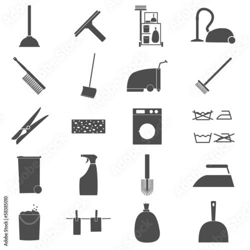 Icon Set Reinigung - 58385010