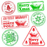 Merry Christmas Rubber Stamps