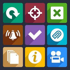 Multimedia flat icons set 5