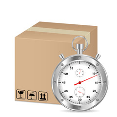 box and stopwatch