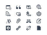 Web page and link icons