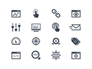 Seo and optimization icons