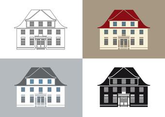 stilisiertes altes Haus