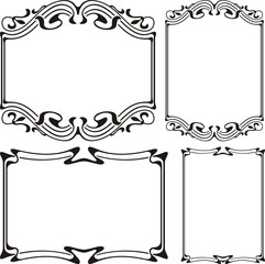art deco - frame