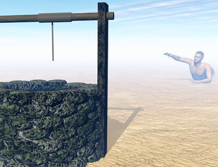 Thirsty to death - 3D render