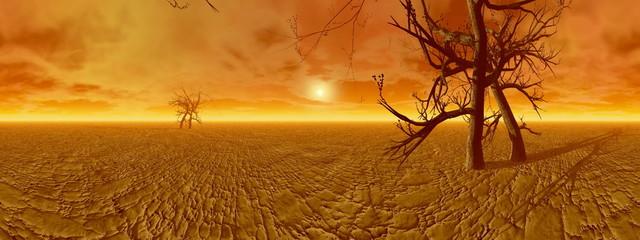 Dryness in desert - 3D render