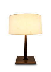 table lamp isolated on white with clipping path