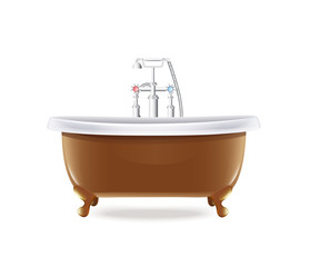 Bathtub With White Water Tap