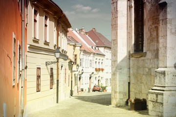 Gyor, Hungary - vintage colors