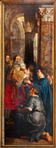 Antwerp - The Presentation of Jesus in Temple by Rubens - 58390037