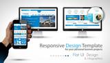 UI Flat Design Elements in a modern HD screen