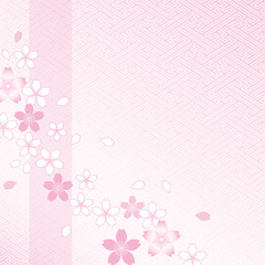 桜と紗綾型模様