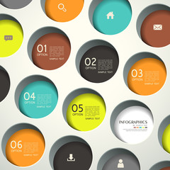 abstract 3d round infographics