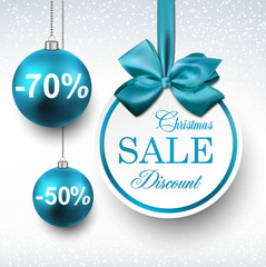 Blue paper round sale labels.