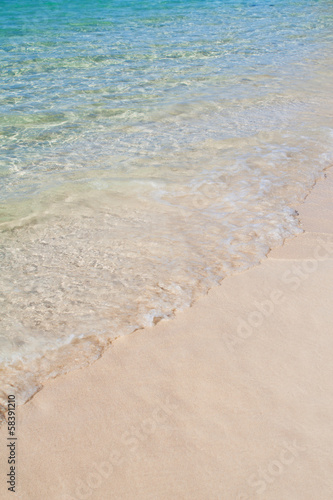 Caribbean sea and sand background