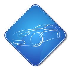 automobile icon for the vector