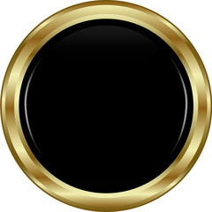 Black gold button.