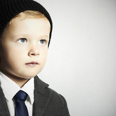 fashion little boy in tie.stylish kid. children
