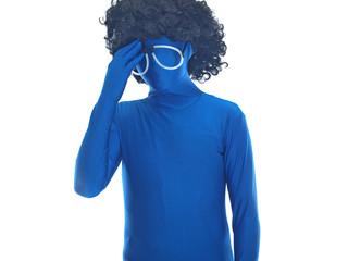 blauer mann