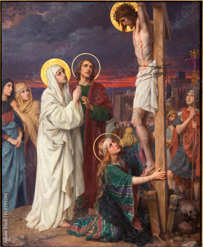 Antwerp -  Crucifixion by Josef Janssens in cathedral - 58393096