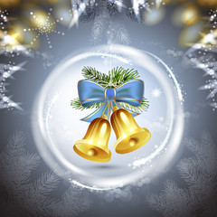 Christmas bells with bow