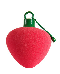 Red fruit shaped bath sponge