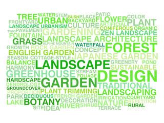 Landscape design. Word cloud concept