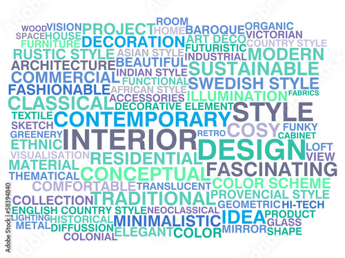 Interior design. Word cloud concept
