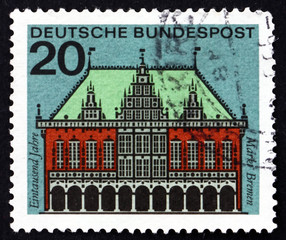 Postage stamp Germany 1965 City Hall, Bremen