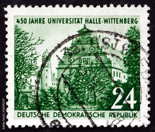 Postage stamp GDR 1952 Halle University