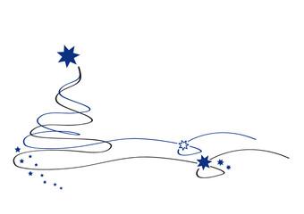 weihnachtsbaum - blau - filigran