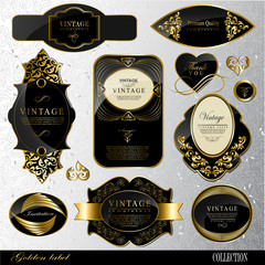 black gold labels