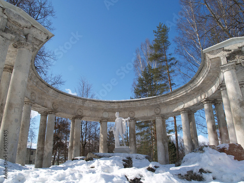 Pavlovsk. Colonnade Apollo (bottom view)