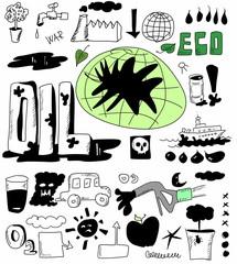 oil doodle concept
